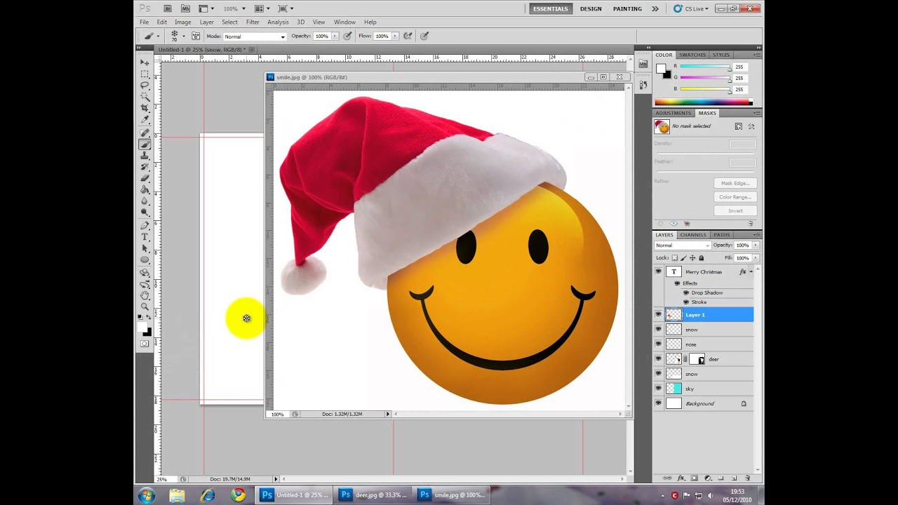 Photoshop Christmas Card Double Sided Or Any Greeting Card