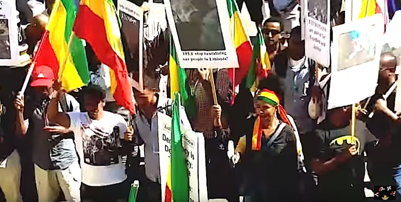 Kefale Alemu on the Terrific Ethiopians Demonstration Against the Serious Human R. V. in Ethiopia