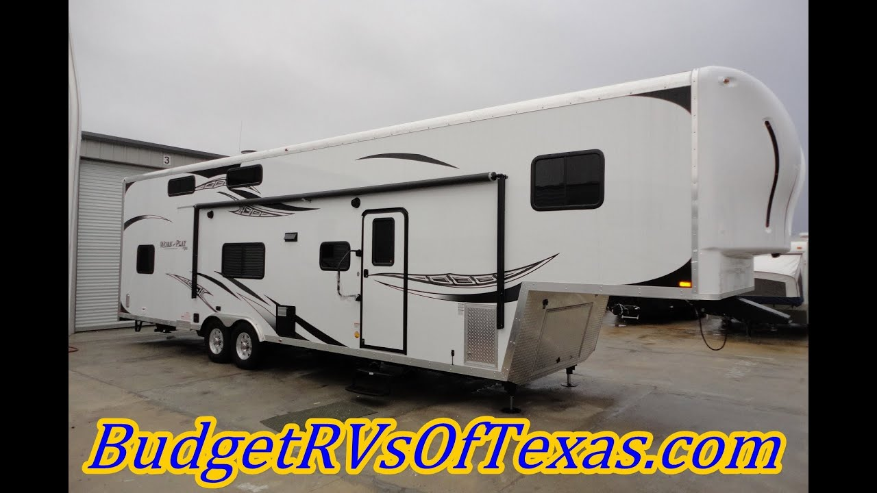 Super Spacious 2014 Work And Play 38ft 5th Wheel Toy