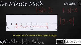 6th Grade Math Absolute Value
