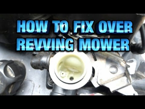 HOW TO FIX OVER REVVING GOVERNOR MOWER ENGINE - YouTube