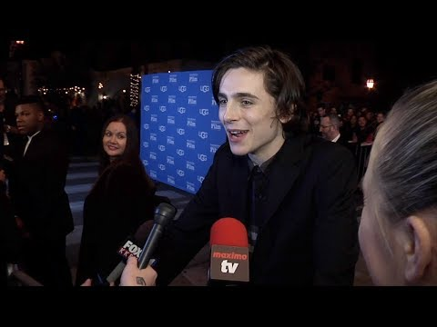 Timothee Chalamet On Flu Vaccination A la 'Family Guy' | 2018 SBIFF