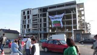 """Protest la inaugurarea noii piste a Aeroportului International """"Avram Iancu"""