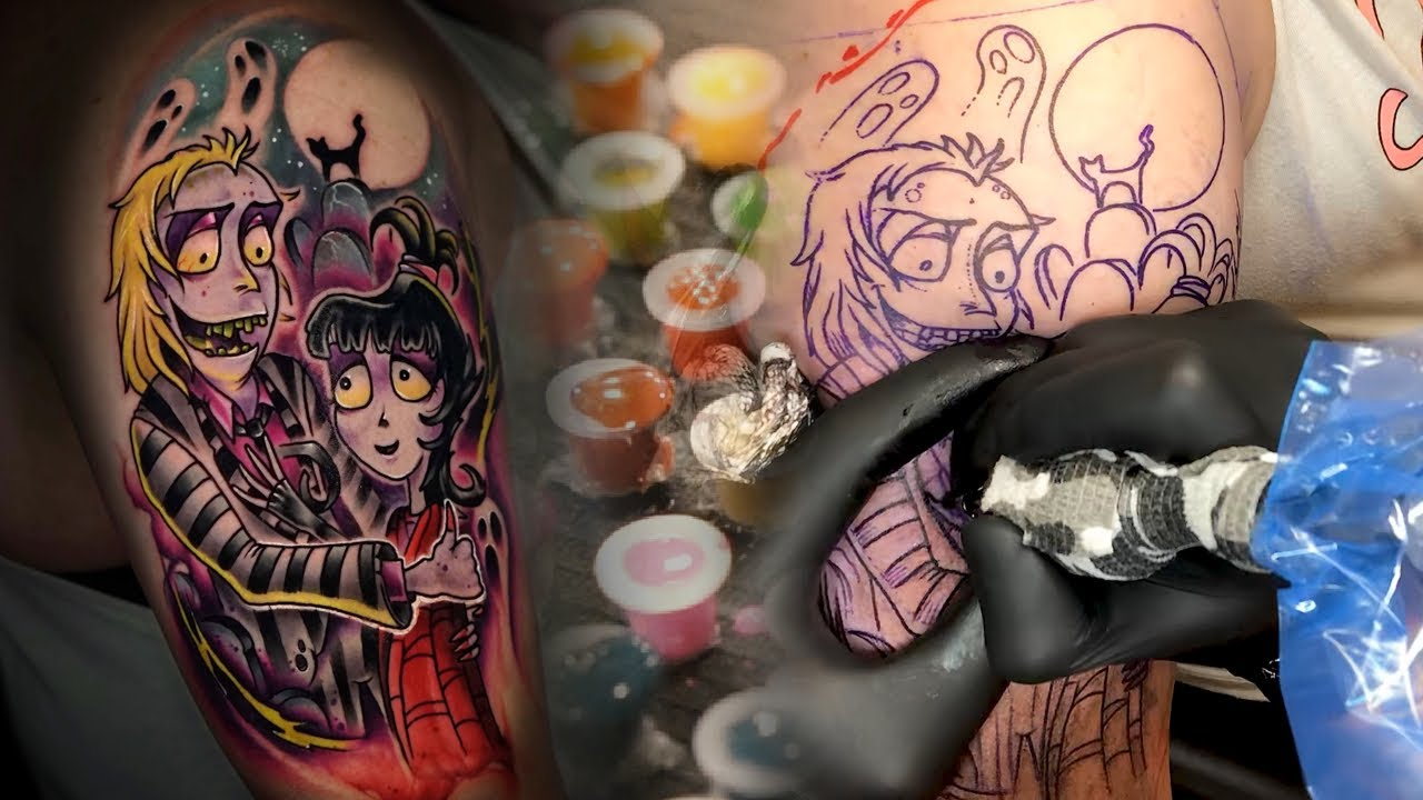 Custom Beetlejuice Tattoo Tatt Tuesday Youtube