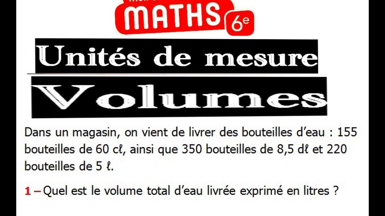 Maths 6ème - Les volumes unités de mesure Exercice 5 - YouTube