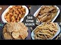 4 easy tea times snacks recipe | quick evening snacks recipes | light evening snacks