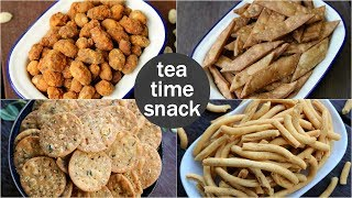 4 easy tea times snacks recipe | quick evening snacks recipes | light evening snacks