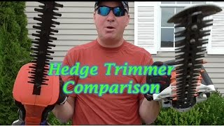 Gas vs Electric Hedge Trimmer.  Stihl,  Black & Decker Review