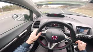 Comptech Supercharged Civic Si pulls  **CRAZY WHINE**
