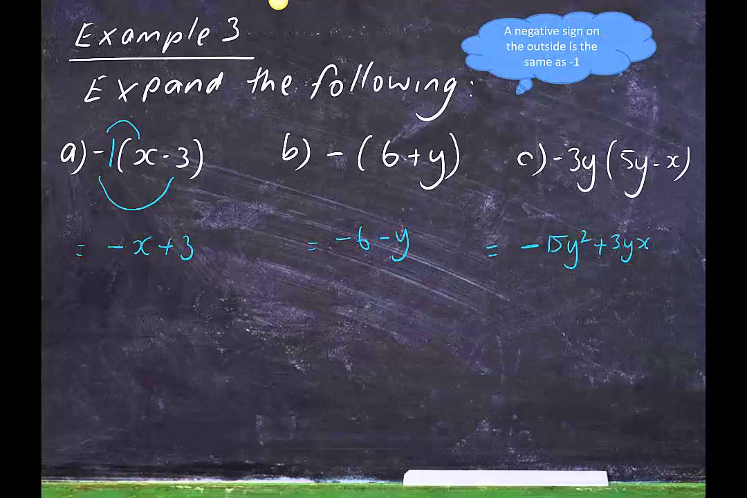 Expanding Algebraic Expressions With Grouping Symbols Youtube