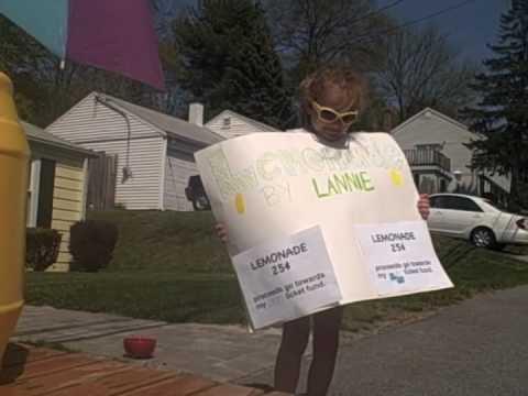 Lannie's Lemonade stand for Ellen tickets!