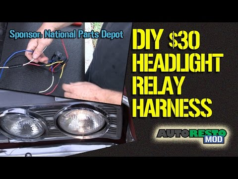 HOW TO Build a DIY Four Light Headlight Relay Harness for $30  Episode 229 Autorestomod