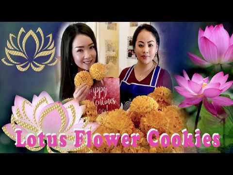 Maiv Xyooj ~ (Food) Lotus Flower Cookies Recipe ~ Qhia ua qhob noom Paj Dauj Npuas 2/13/2019 thumbnail