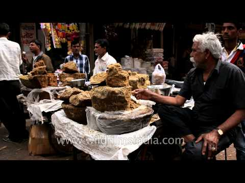 Jaggery shop in Udaipur market