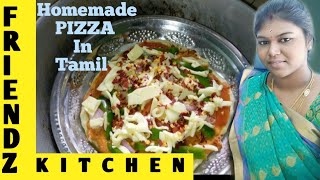 How to make homemade Pizza Recipe in Tamil | Veg Pizza Recipe | Pizza recipe without Oven