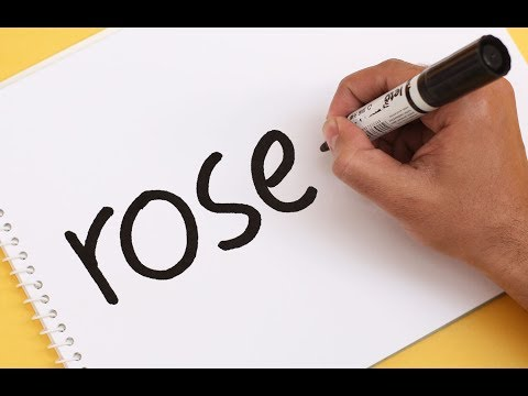 How to turn word ROSE into a Cartoon ! Text To Picture art for kids