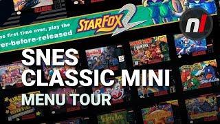 Super NES Classic / SNES Mini User Interface Menu Tour - New Rewind State Feature