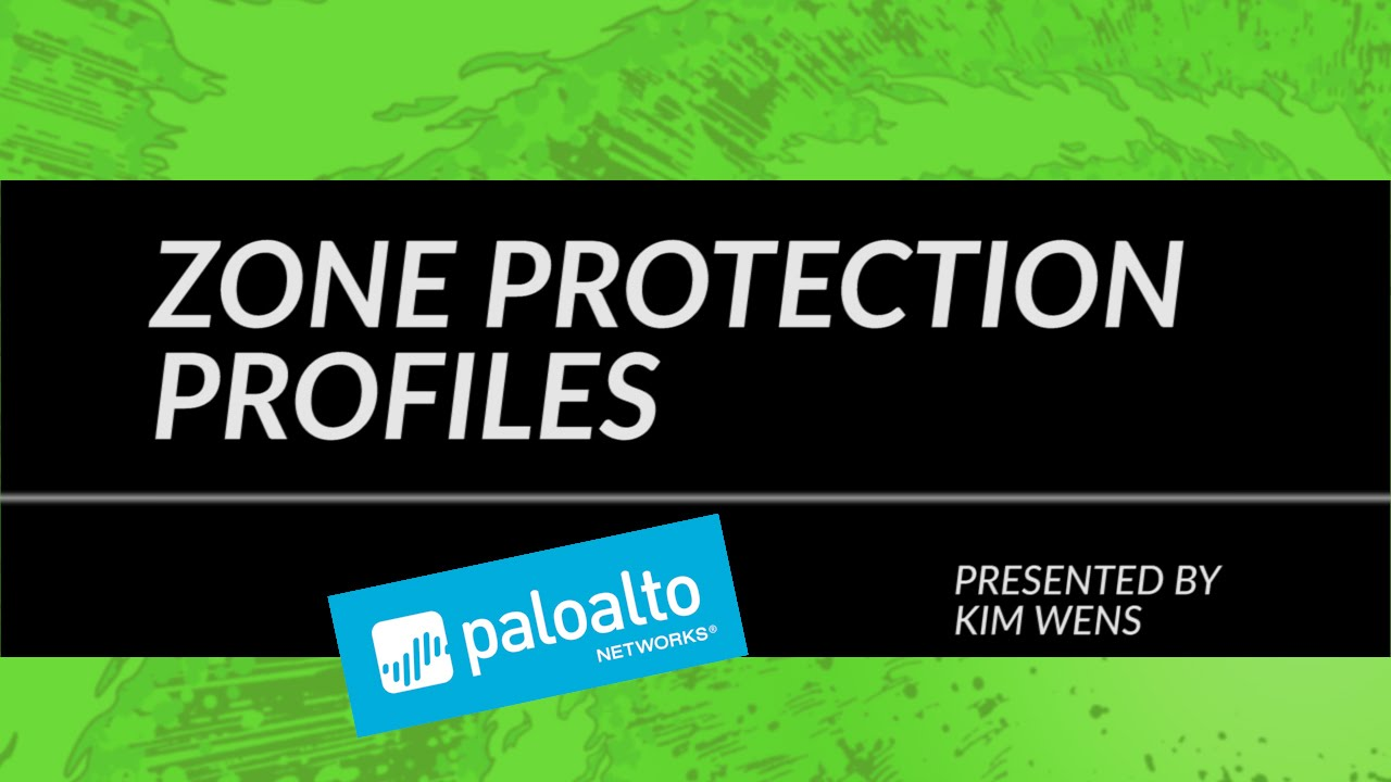 Video tutorial: zone protection profiles youtube.