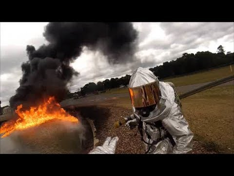 USAF Fire Protection At WAREX - YouTube
