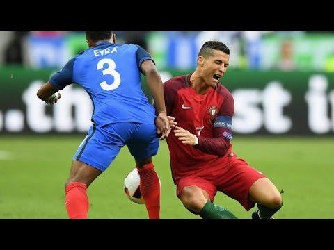 Cristiano Ronaldo Injury Portugal vs France  Final EURO