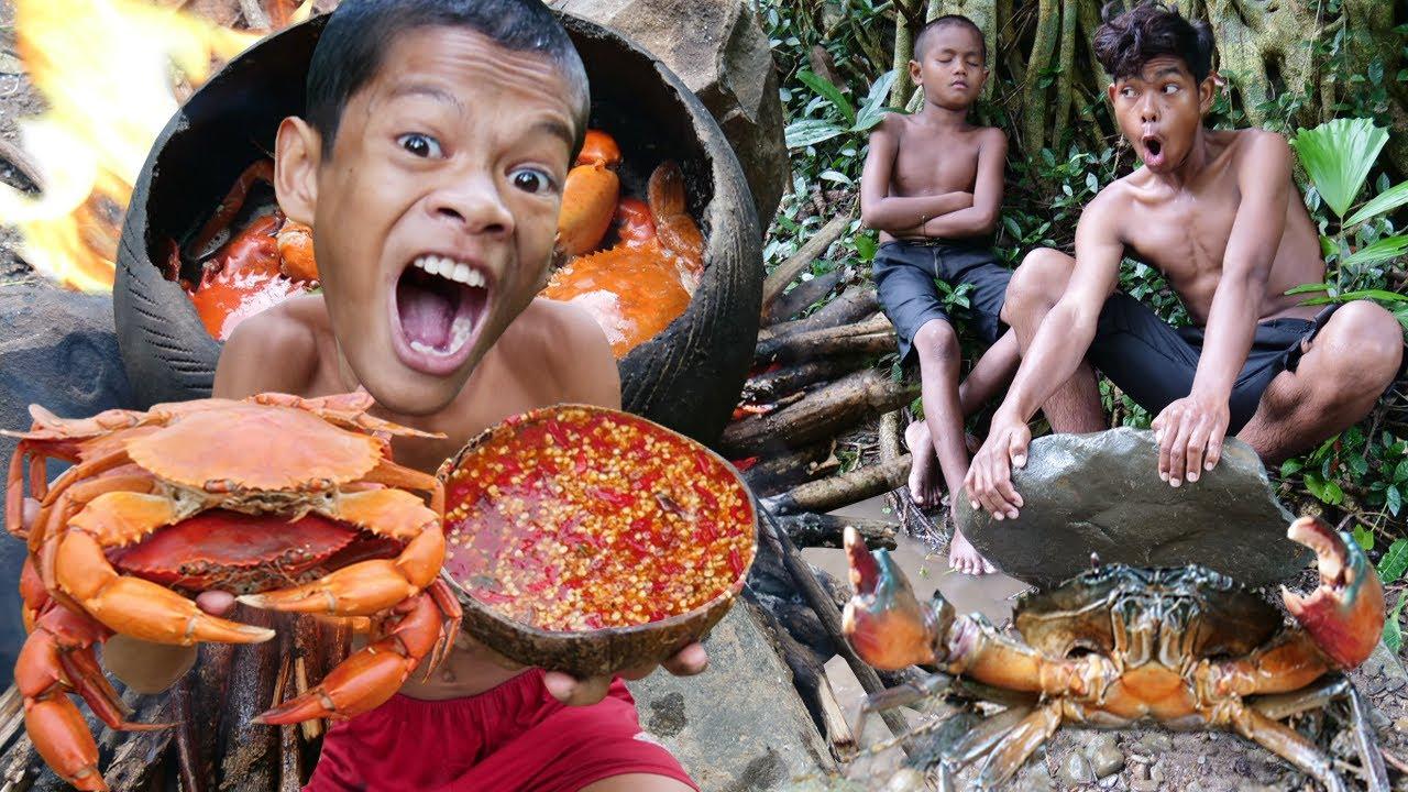 Primitive Technology - Kmeng Prey - Cooking Crab