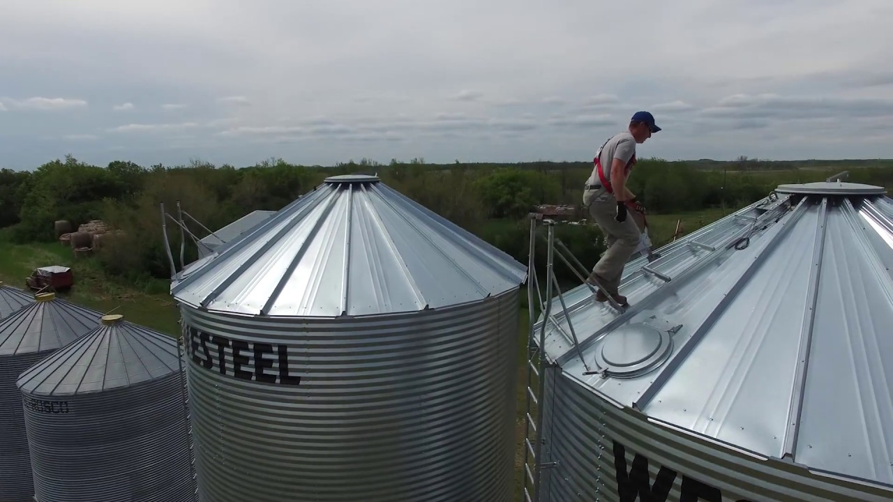 Grain Bin Fall Protection System - Northern Strands, Saskatoon, Canada