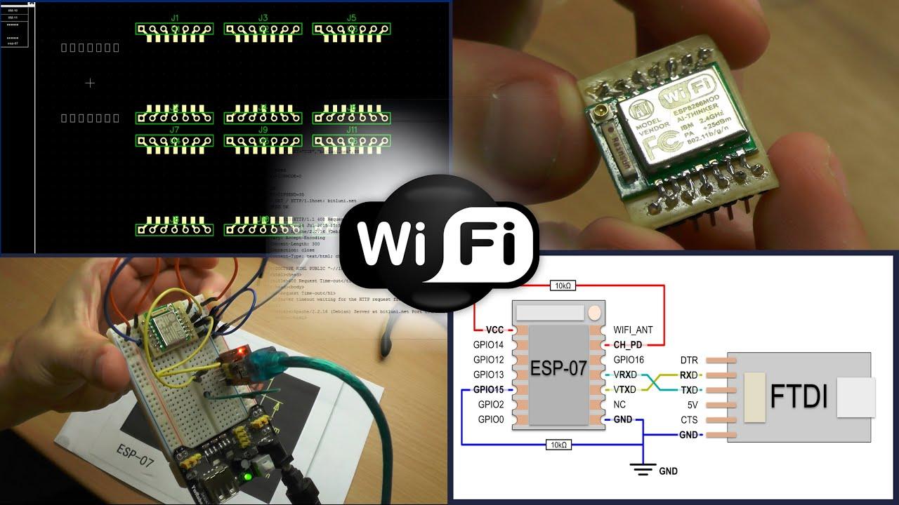Modulo esp-07 esp8266 Wi-Fi WLAN serial UART modulo iot Arduino Raspberry Pi