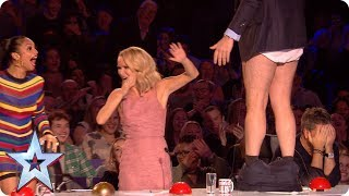 Preview  David loses his trousers during Sue Moretta's performance! | Britain's Got Talent 2017