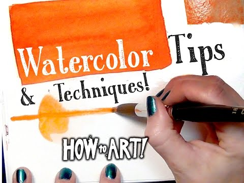 WATERCOLOR TIPS! - How To Art #6