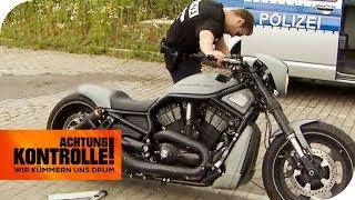 Zu laut & zu unsicher! Katastrophale Mängel bei Harley Davidson! | Achtung Kontrolle | kabel eins