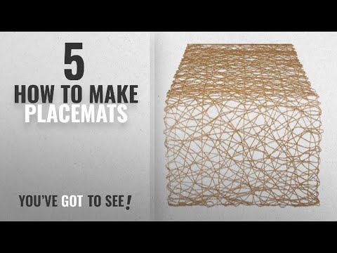 Best How To Make Placemats [2018]: DII Woven Paper Decorative Table Runner for Holidays, Occasions,