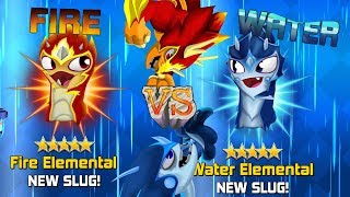 USING ALL ELEMENTALS SLUGTERRA SLUG IT OUT 2 AND ALSO FIRE ELEMENTAL VS WATER ELEMENTAL!