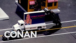 LIVE Footage Of Trump's Motorcade In Los Angeles  - CONAN on TBS
