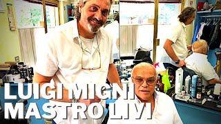 Rasatura di Mastro Livi nella barbieria di Luigi Migni a Perugia