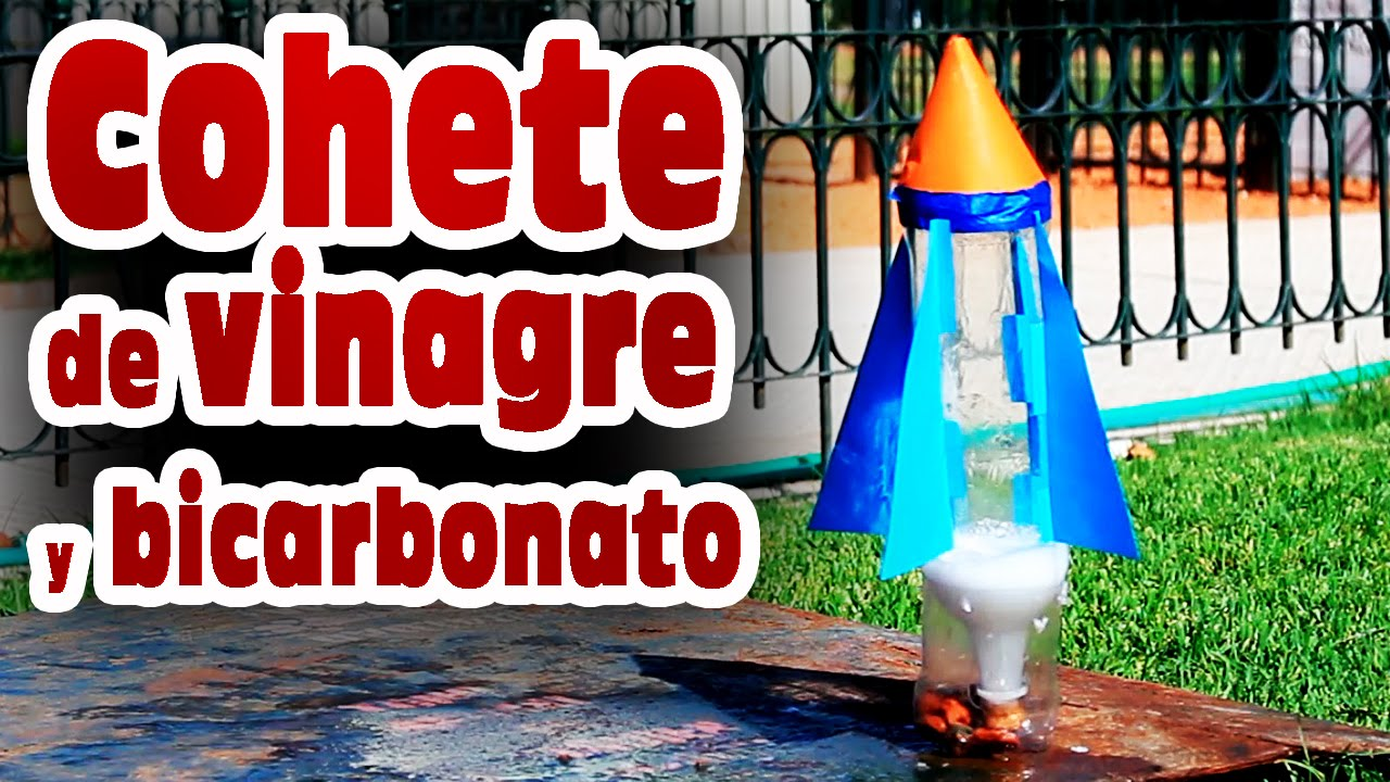 Cohete casero de vinagre y bicarbonato de sodio - Como limpiar la lavadora con vinagre y bicarbonato ...