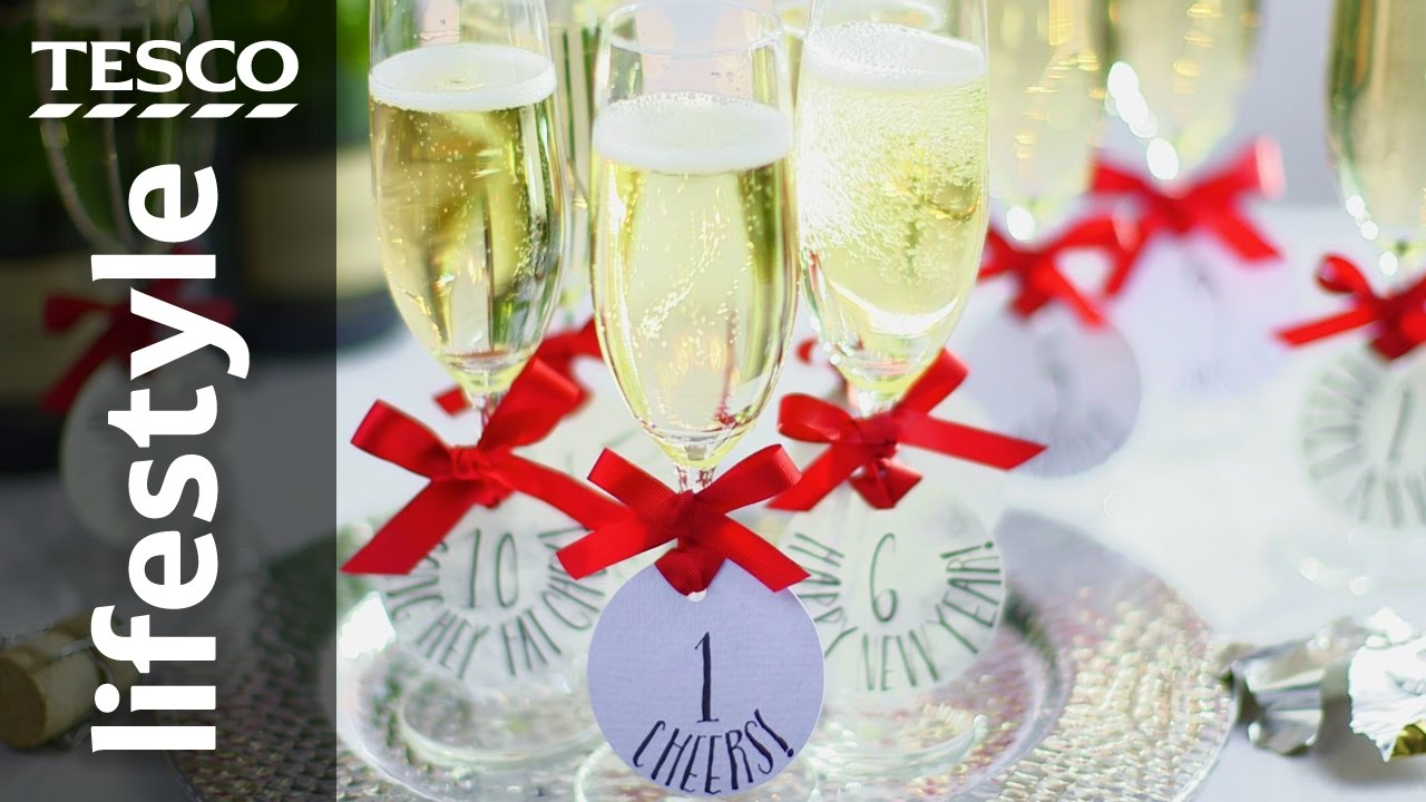 decorate champagne glasses. How to Decorate Champagne Glasses for New Year s Eve  Tesco Living