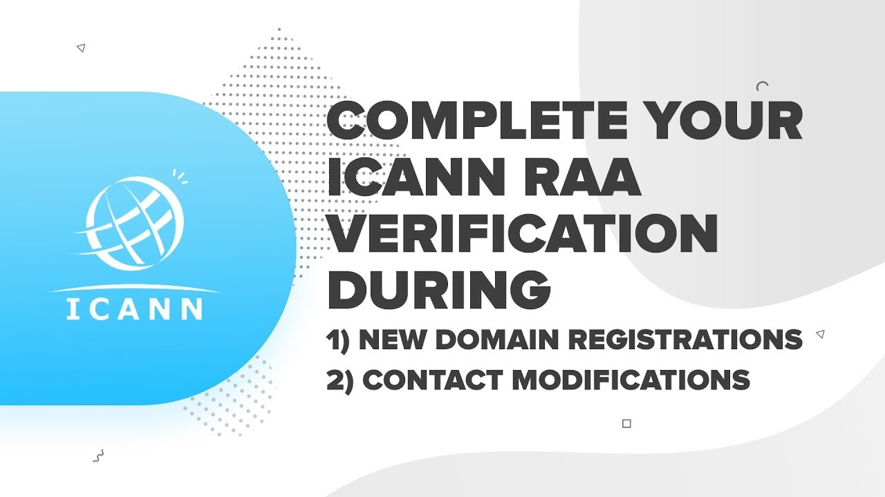 How To Complete Your Icann Raa Verification Resellerclub Youtube
