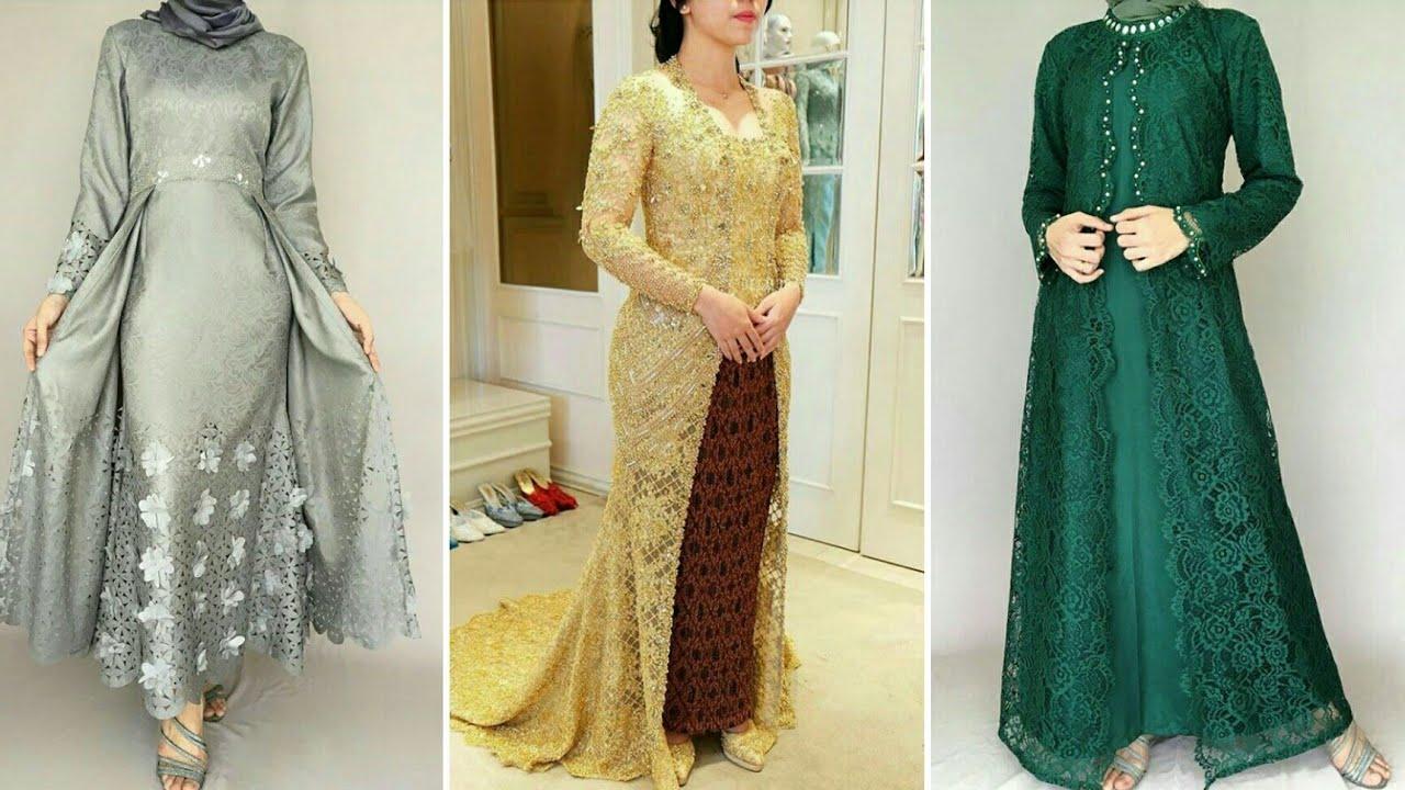 11 Model Baju Gamis dan Kebaya Brokat Modern Pesta Muslim 11/11
