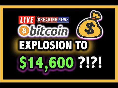 BITCOIN PRICE EXPLOSION TO $14,600?!!! 💥✅ LIVE Crypto Analysis TA & BTC Halving Cryptocurrency News