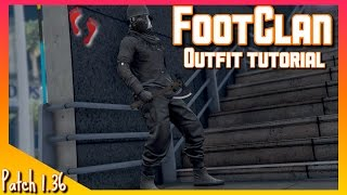 How To Make FootClan Outfit on GTA   Outfit Tutorial   GTA V online Gameplay