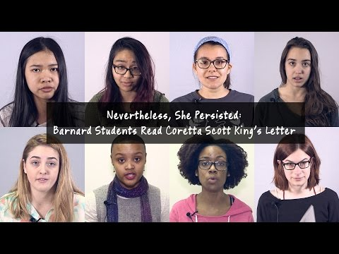 Nevertheless, She Persisted: Barnard Students Read Coretta Scott King