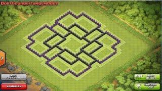 Clash of Clans - Town Hall 9 Farming Base (Anti Lava Hound / SafeDark Elexir) Speed build
