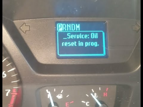 Ford Transit Service Oil Reset Youtube
