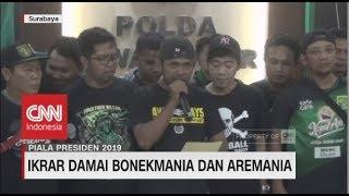 Jelang Final, Bonek & Aremania Lakukan Ikrar Damai