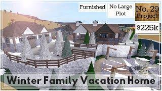 Roblox - France BLOXBURG: Maison de vacances en famille d'hiver (Construction de vitesse) (NO Large Plot)