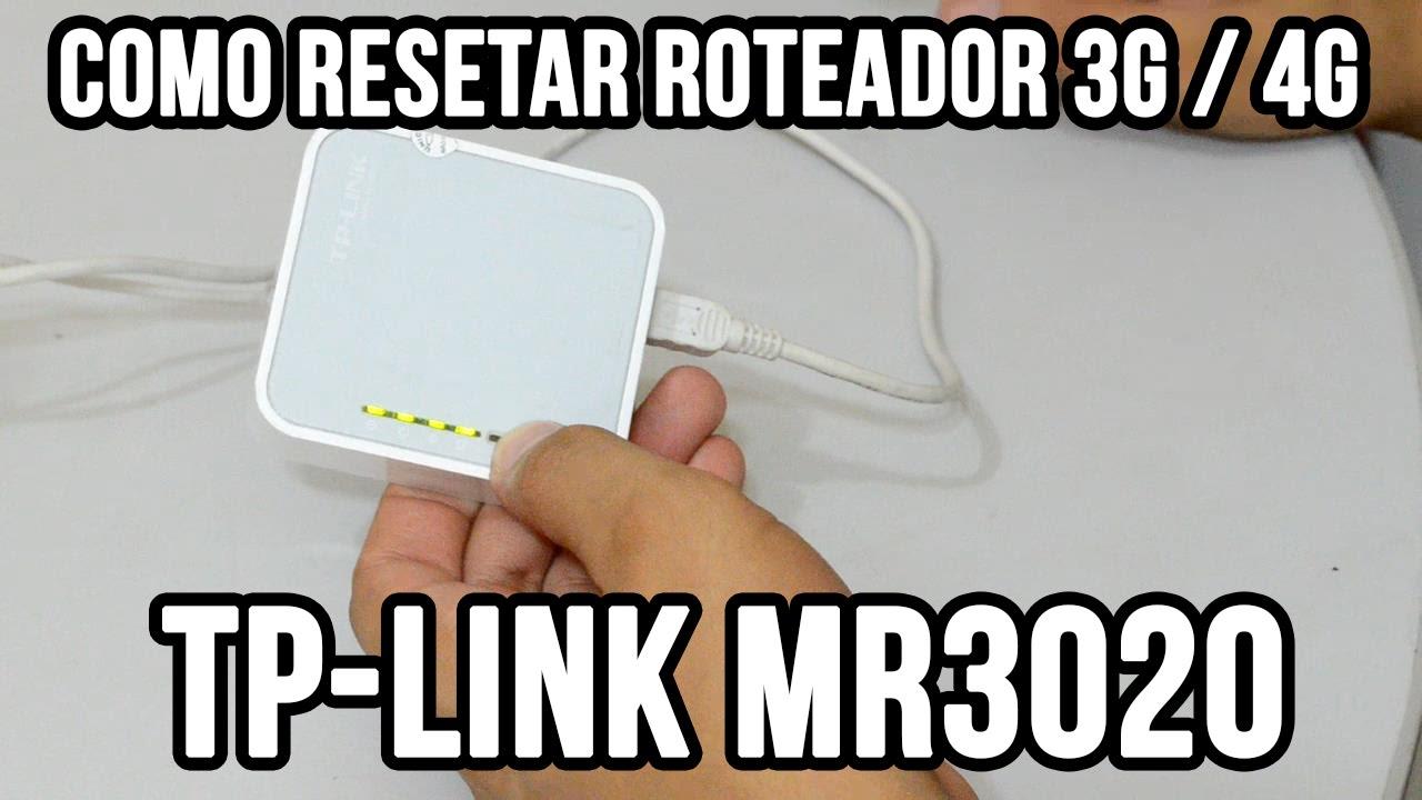 Como resetar roteador TP-Link MR3020 3g 4g