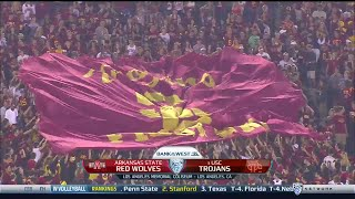 NCAAF /  Week 01 /  05.09.2015  / Arkansas State Red Wolves @ (8) USC Trojans