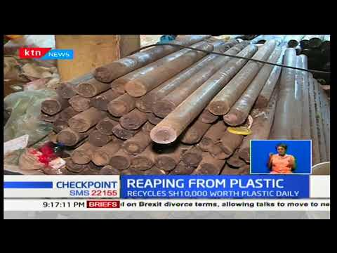 Kenyan who uses plastic bags to make building materials