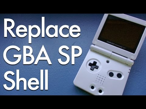 Game Boy Advance SP Troubleshooting and Shell Replacement