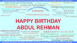 AbdulRehman   Languages Idiomas - Happy Birthday